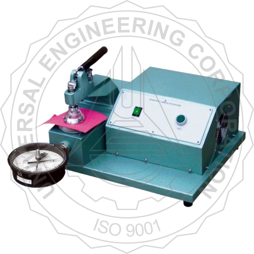 BURSTING STRENGTH TESTER FOR PAPER (CLAMPING THROUGH LEVER ARM)