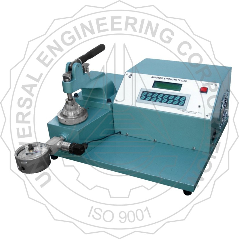 BURSTING STRENGTH TESTER FOR PAPER DIGITAL DISPLAY (LEVER ARM CLAMPING)