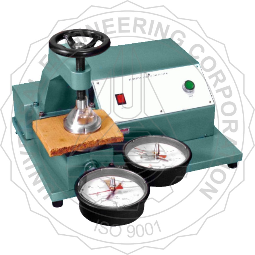 BURSTING STRENGTH TESTER FOR PAPER BOARD & CORRUGATED BOAR(CLAMPING THROUGH HAND WHEEL)