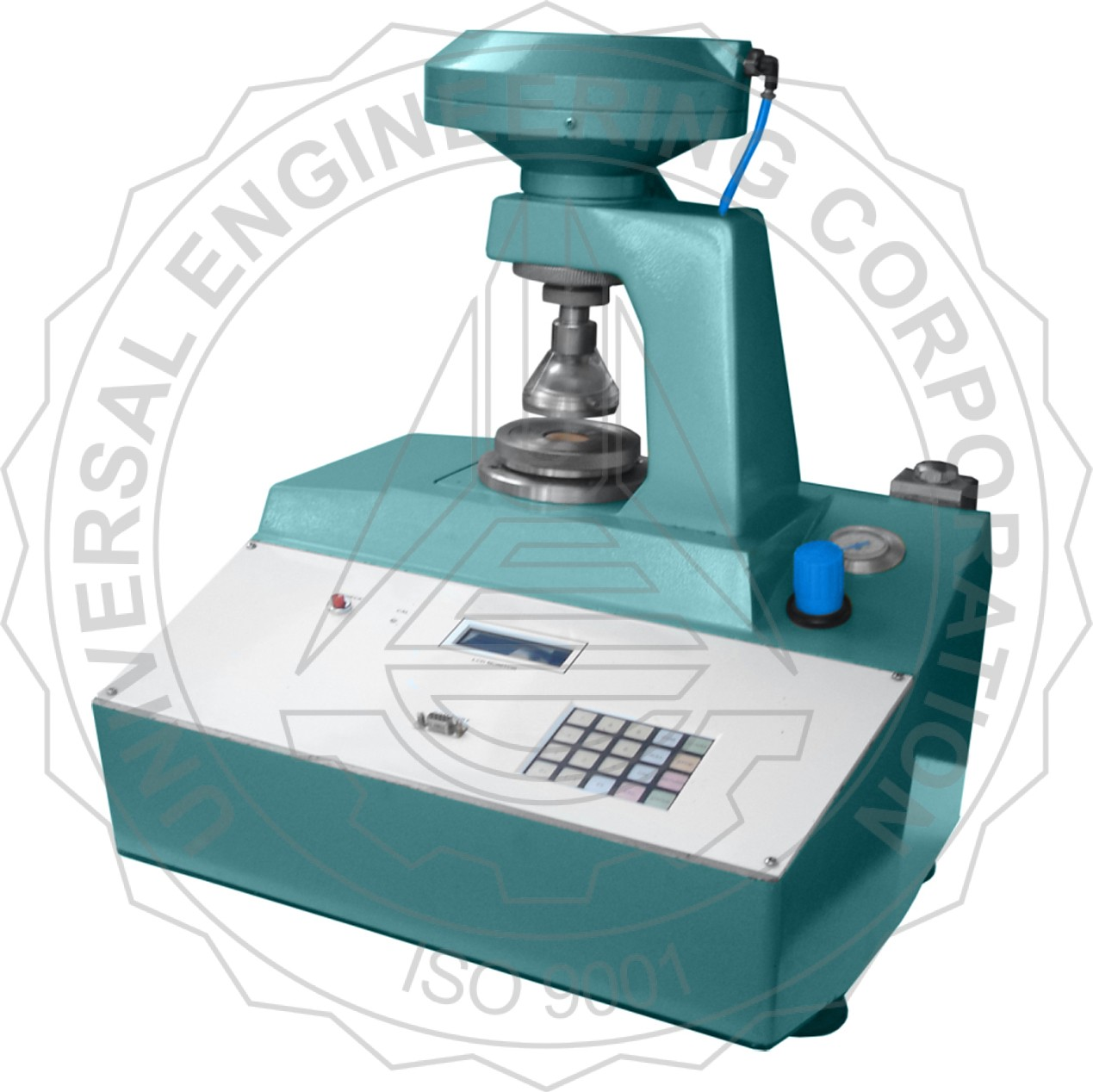 BURSTING STRENGTH TESTER - KEYPAD OPERATED (PNEUMATIC CLAMPING) FOR PAPER / PAPER BOARD