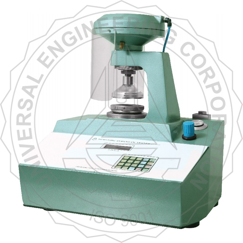BURSTING STRENGTH TESTER - KEYPAD OPERATED.(PNEUMATIC CLAMPING) FOR BOARD/ SOLID FIBRE CORRUGATED BOARD.