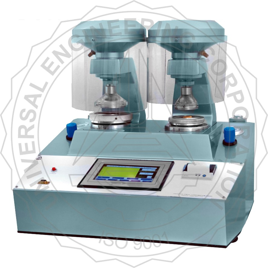 BURSTING STRENGTH TESTER - DOUBLE HEADED PNEUMATIC CLAMPNG, TOUCH SCREEN CONTROLLED FOR PAPER, PAPER BOARD & SOLID FIBRE CORRUGATED BOARD