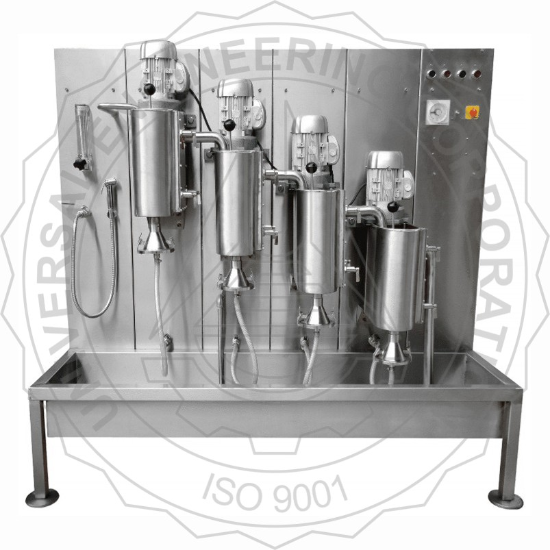 FIBRE CLASSIFIER (BAUER MC NETT TYPE) STAINLESS STEEL SCREEN MODEL WITH THREE, FOUR OR FIVE TANKS