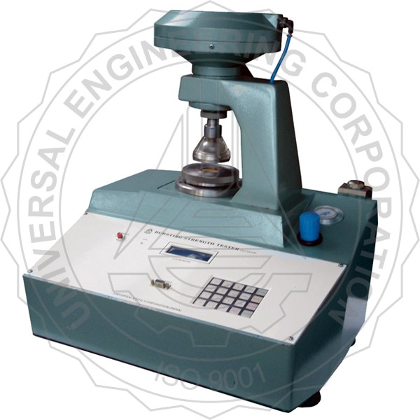 BURSTING STRENGTH TESTER- (DIGITAL) FOR PAPER & PAPER BOARD (PNEUMATIC CLAMPING TYPE)