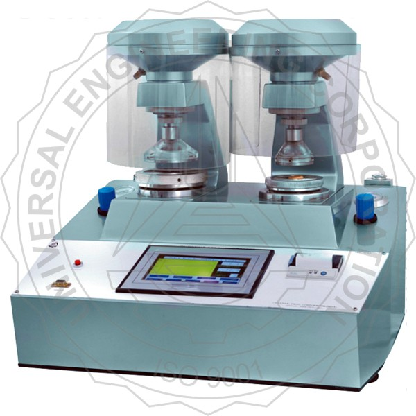 DIGITAL BURSTING STRENGTH TESTER (TOUCH SCREEN CONTROLLED) DUAL CLAMPING SYSTEM)